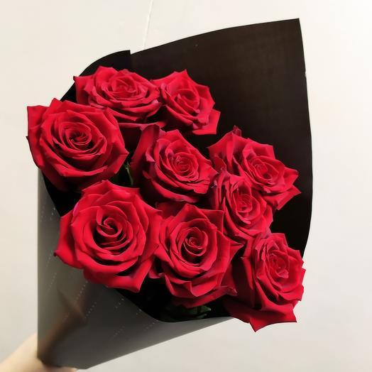 Шикарная Эквадорская Роза ( 9 шт )