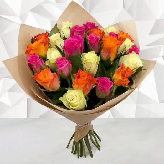 Монобукет из 21 роз