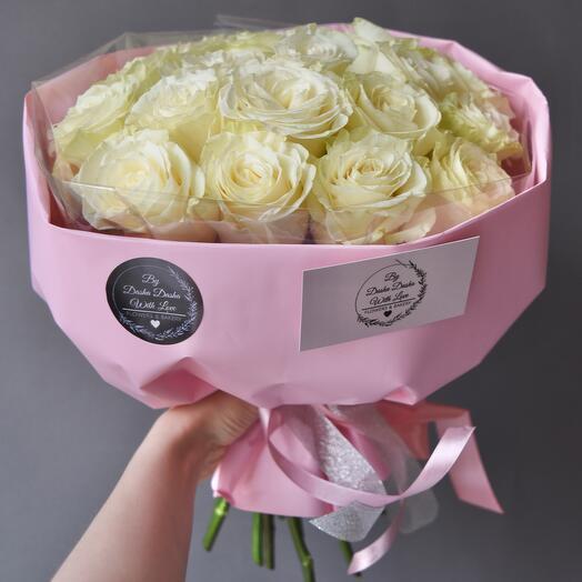 Розы пионовидные Премиум 19 шт