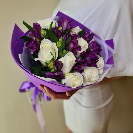 """""""Аметист"""" розы и альстромерии"""