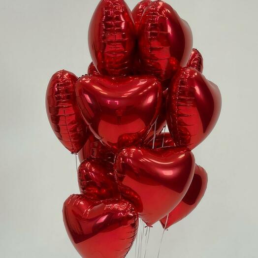 Набор шаров из 15 сердец