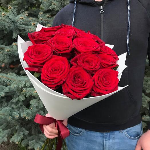 Rosalina - 15 Бордовых роз 50см