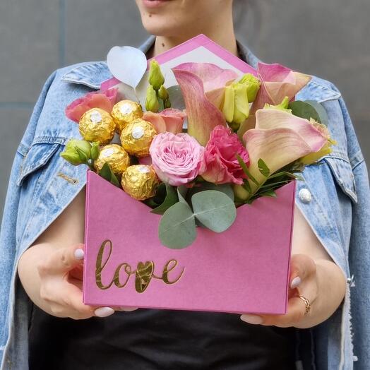 Цветочно-сладкое послание