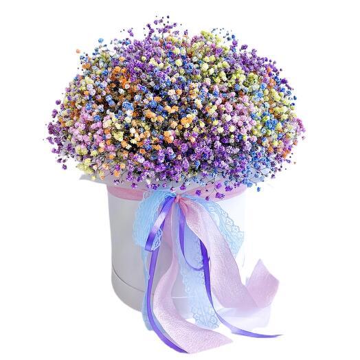 Цветы в коробке «Искры счастья»