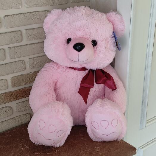 Медведь Эдди розовый 75 СМ