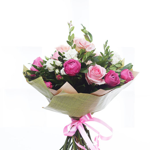 Букет с пионовидной розой: букеты цветов на заказ Flowwow
