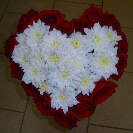 Сердце из 15 роз: букеты цветов на заказ Flowwow
