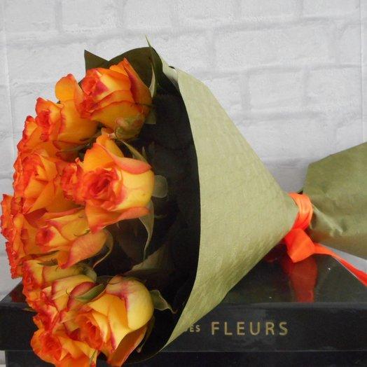 Fiery rose: flowers to order Flowwow