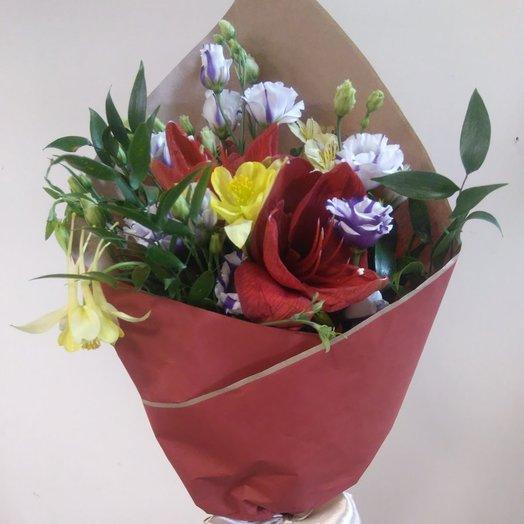 Амариллис в конверте: букеты цветов на заказ Flowwow