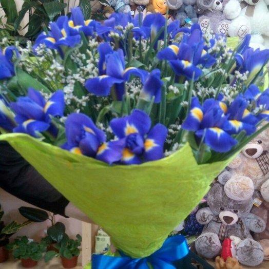 Букет из ирисов 33 шт: букеты цветов на заказ Flowwow