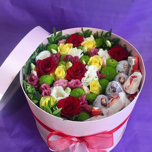 """Коробочка """"Сюрприз"""" для неординарных: букеты цветов на заказ Flowwow"""