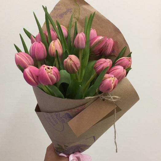 Букет с тюльпанами : букеты цветов на заказ Flowwow