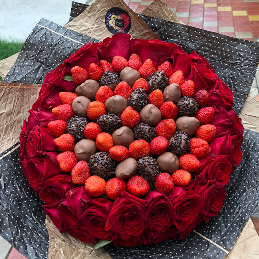 Я тебя очень люблю: букеты цветов на заказ Flowwow