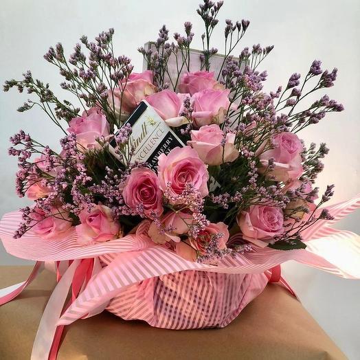 Розовая бомбита: букеты цветов на заказ Flowwow