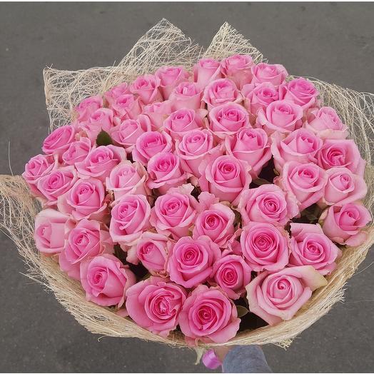 Букет из роз. 51 красная роза: букеты цветов на заказ Flowwow