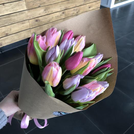 Букет тюльпашей: букеты цветов на заказ Flowwow