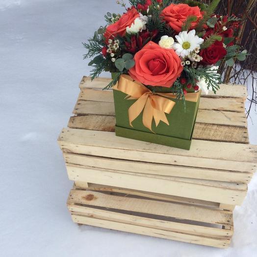 Композиция в коробке Orange: букеты цветов на заказ Flowwow