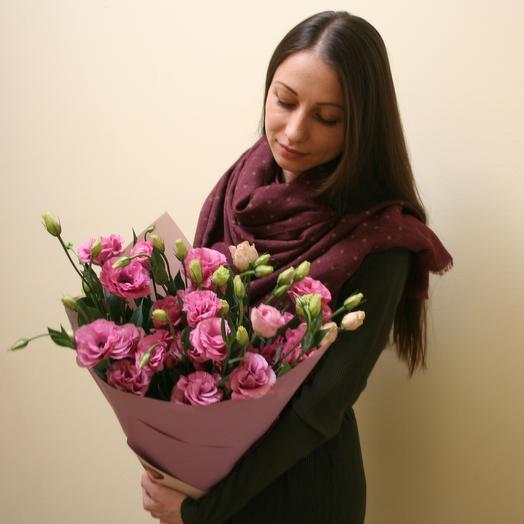 Воздушный букет розовых эустом: букеты цветов на заказ Flowwow
