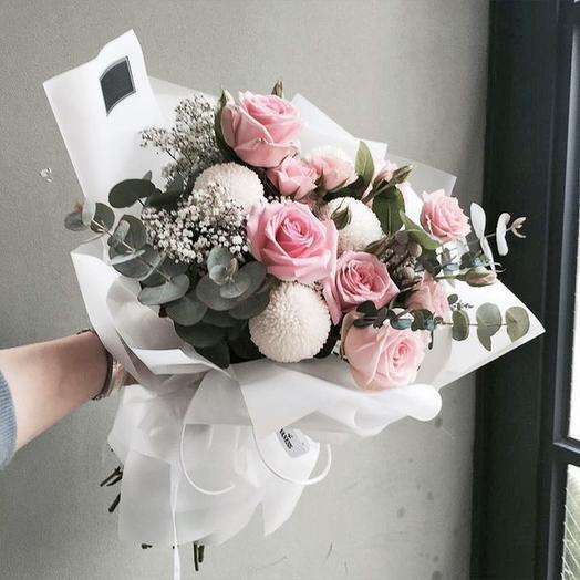 Букет «Розовый бархат»: букеты цветов на заказ Flowwow