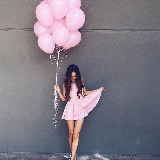 """Набор из 11 розовых шаров """"Зефирка"""""""