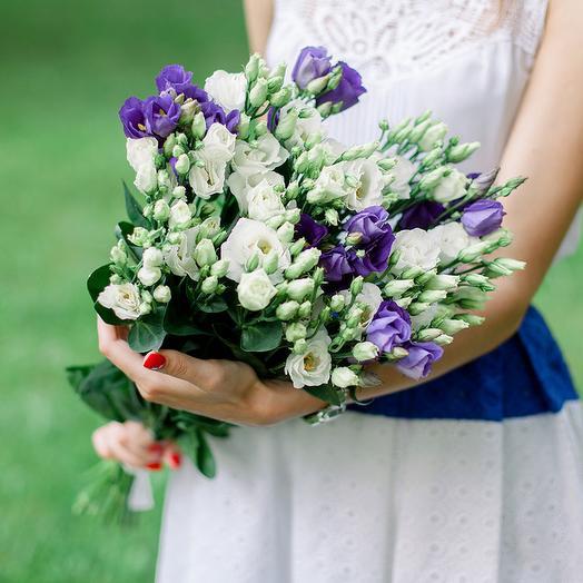 "Букет ""15 Лизиантусов микс"": букеты цветов на заказ Flowwow"