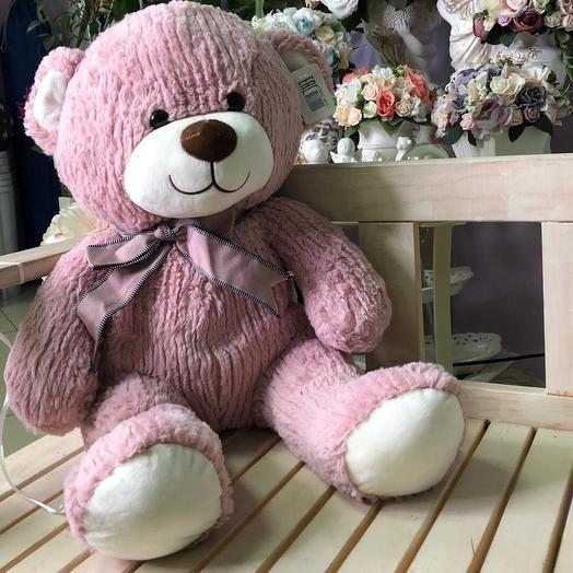 Розовый медведь: букеты цветов на заказ Flowwow