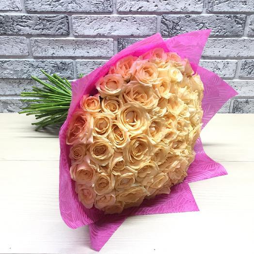 51 Пич Роза: букеты цветов на заказ Flowwow