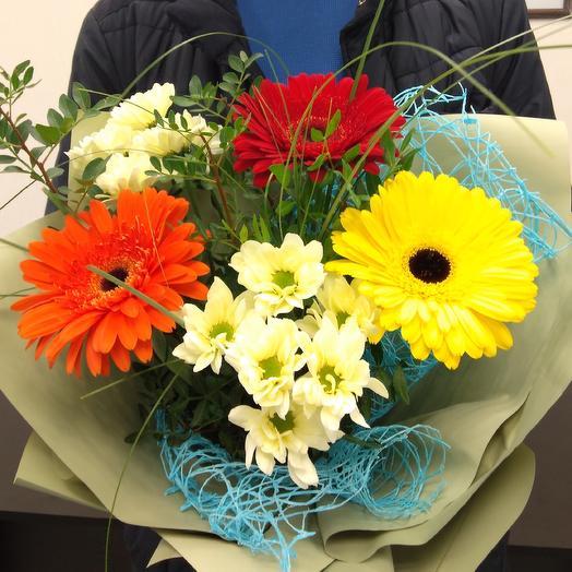 Солнечная улыбка: букеты цветов на заказ Flowwow