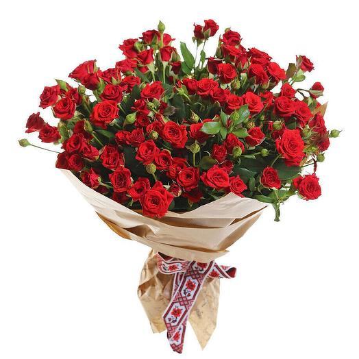Кустовые розы 25 шт: букеты цветов на заказ Flowwow