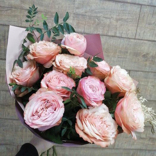 Пионовидная красавица - любимые розы: букеты цветов на заказ Flowwow