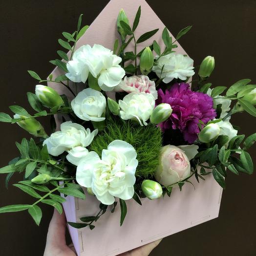 Конверт счастья: букеты цветов на заказ Flowwow