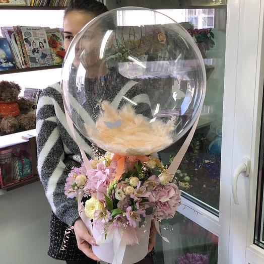 Вощдушный сюрприз: букеты цветов на заказ Flowwow