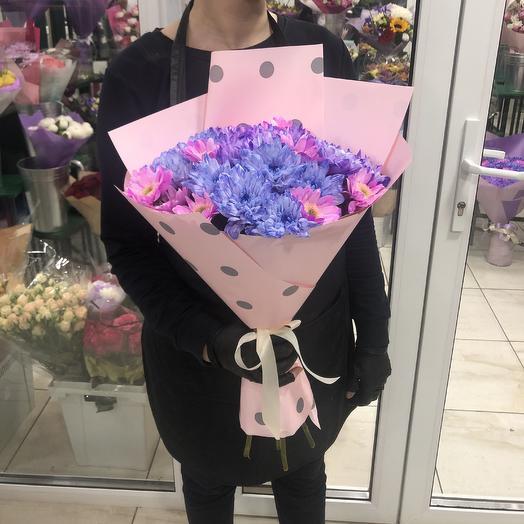 Букет Хризантема крашеная: букеты цветов на заказ Flowwow