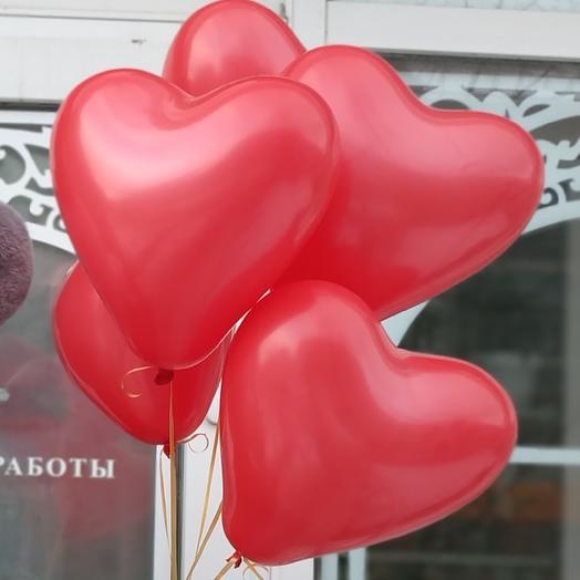 Шарики сердечки 5 шт ️