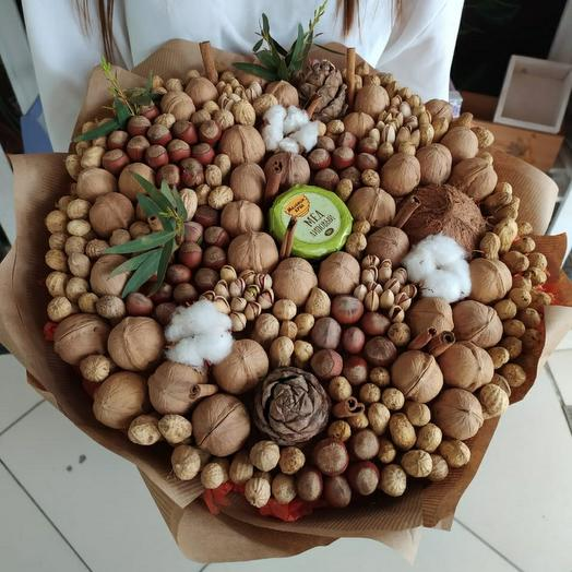 A bouquet of nuts, coconut and honey