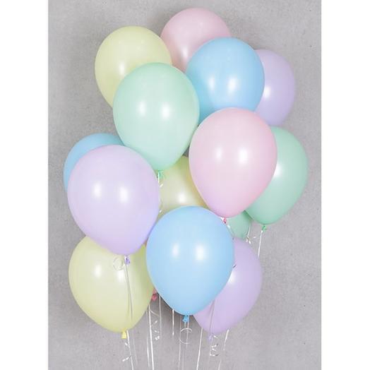 15 helium balloons