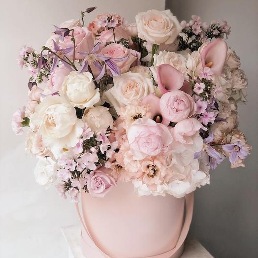 Цветы в коробке Luxury Flowers Сны о любви