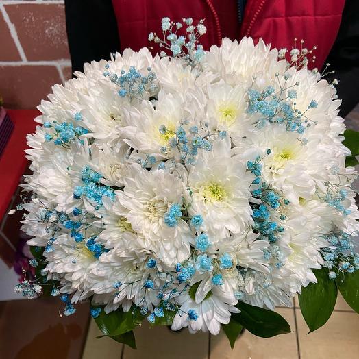 Цветы в коробке «Бисквит»