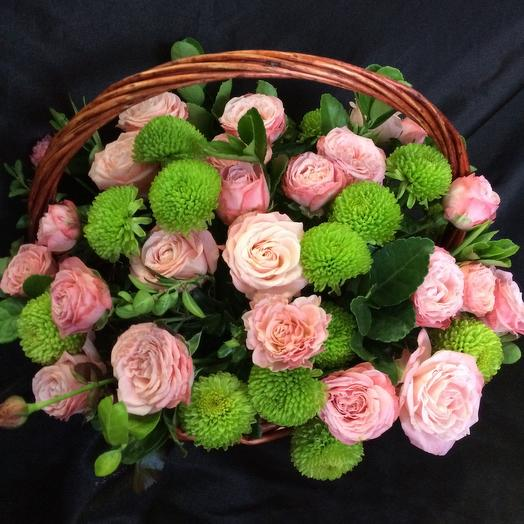 Корзина с цветами Милена