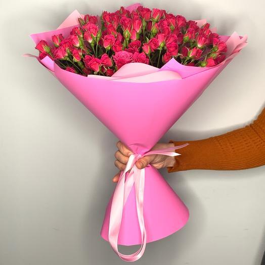 Букет из кустовых роз  2