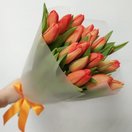 Оранж 19 тюльпанов