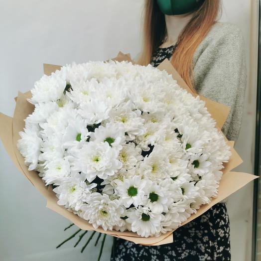 """Букет """"Зефир 15"""" из белых кустовых хризантем"""
