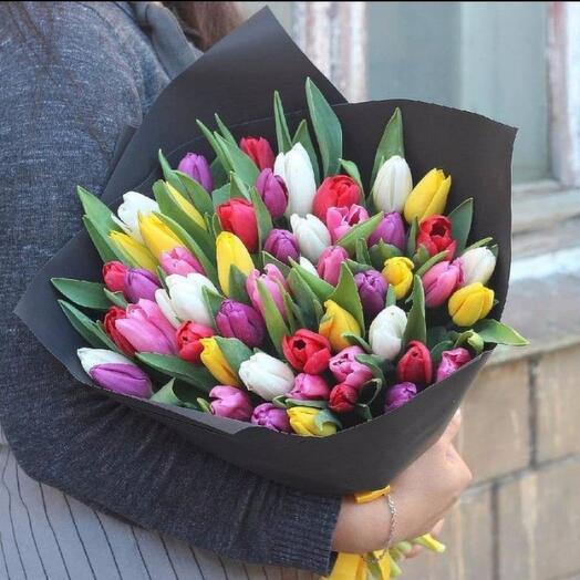Большой букет тюльпан 51  Хит