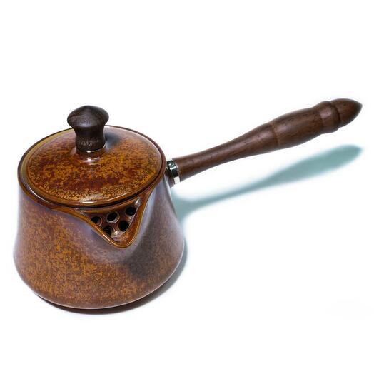 """Чайник """"Дерево"""" с деревянной ручкой, керамика, 250 мл 1 шт"""