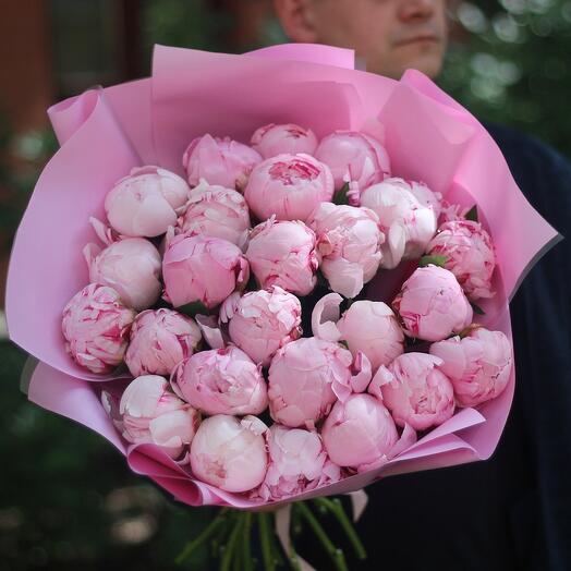 25 ароматных розовых пионов