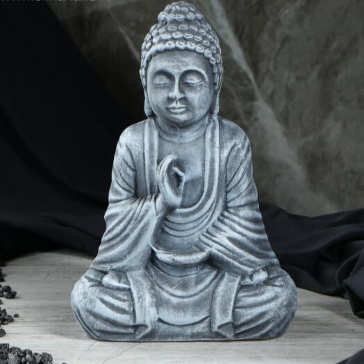 """Сувенир """"Будда"""" серый, 28 см"""