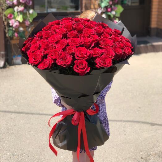 55 импортных роз
