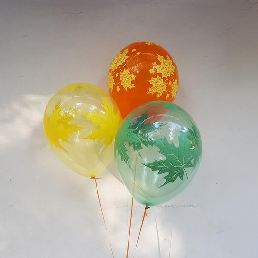 """Воздушные шары """"Осенние листья"""""""