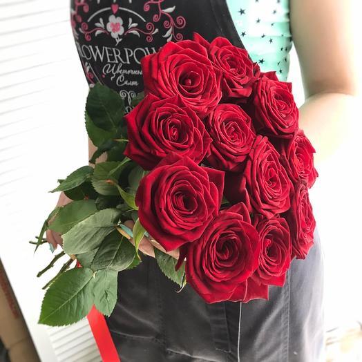 Букет из 11 красных роз 50 см: букеты цветов на заказ Flowwow