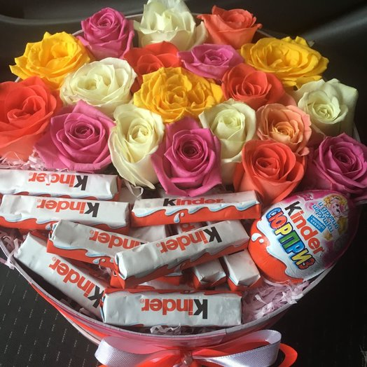 """Коробочка """"Радуга"""": букеты цветов на заказ Flowwow"""